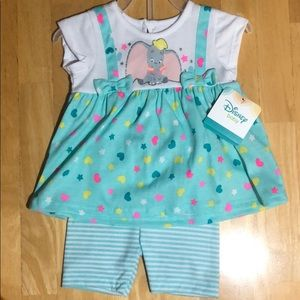 Disney Dumbo toddler girl 2 piece outfit